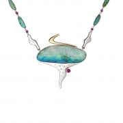 Jaime Moreno Unique Pieces of Art in Fine Jewelry Bajamar Necklace C118 Bq