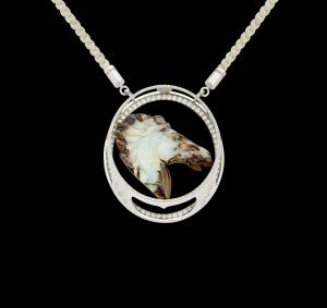 Jaime Moreno Unique Pieces of Art in Fine Jewelry Bucephalus Pendant C117 N 1