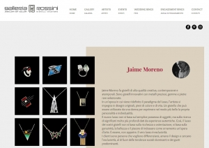 Jaime Moreno Unique Pieces of Art in Jewelry - Galleria Rossini - Milano