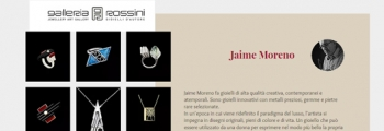 Jaime Moreno Unique Pieces of Art in Jewelry – Only Spanish Designer in Galleria Rossini di Milano