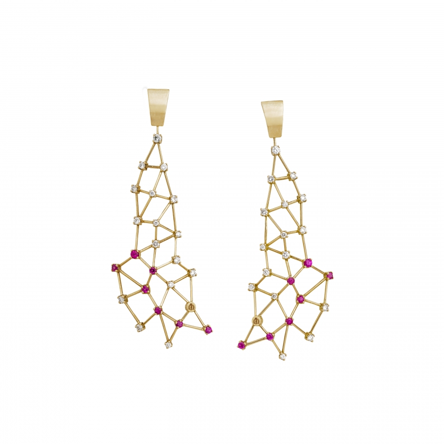 screen gold earrings matisse l earring product fine single finejewelry full josina jewelry view y