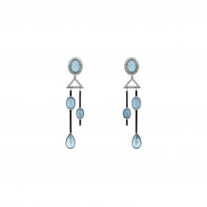 Jaime Moreno Unique Pieces of Art in Fine Jewelry Raindrops Earrings P27 B