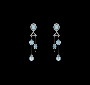 Jaime Moreno Unique Pieces of Art in Fine Jewelry Raindrops Earrings P27 N