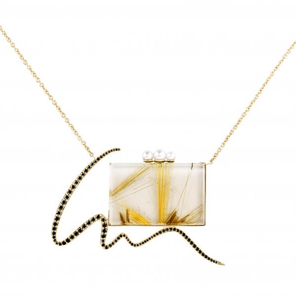 Jaime Moreno Unique Pieces of Art in Fine Jewelry Mirror Pendant C103 B