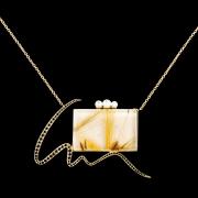 Jaime Moreno Unique Pieces of Art in Fine Jewelry Mirror Pendant C103 N