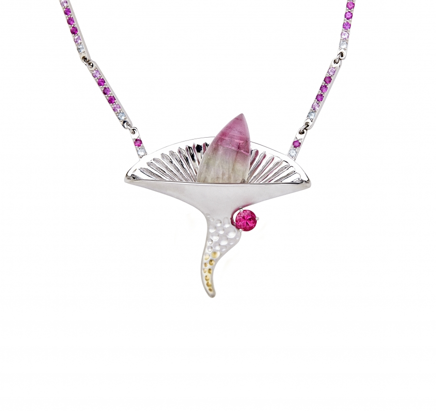 horn made specila precious cosmos necklace gold diamonds fromm diamond collection product orion oraspringjewelry spring playing the with ora coming