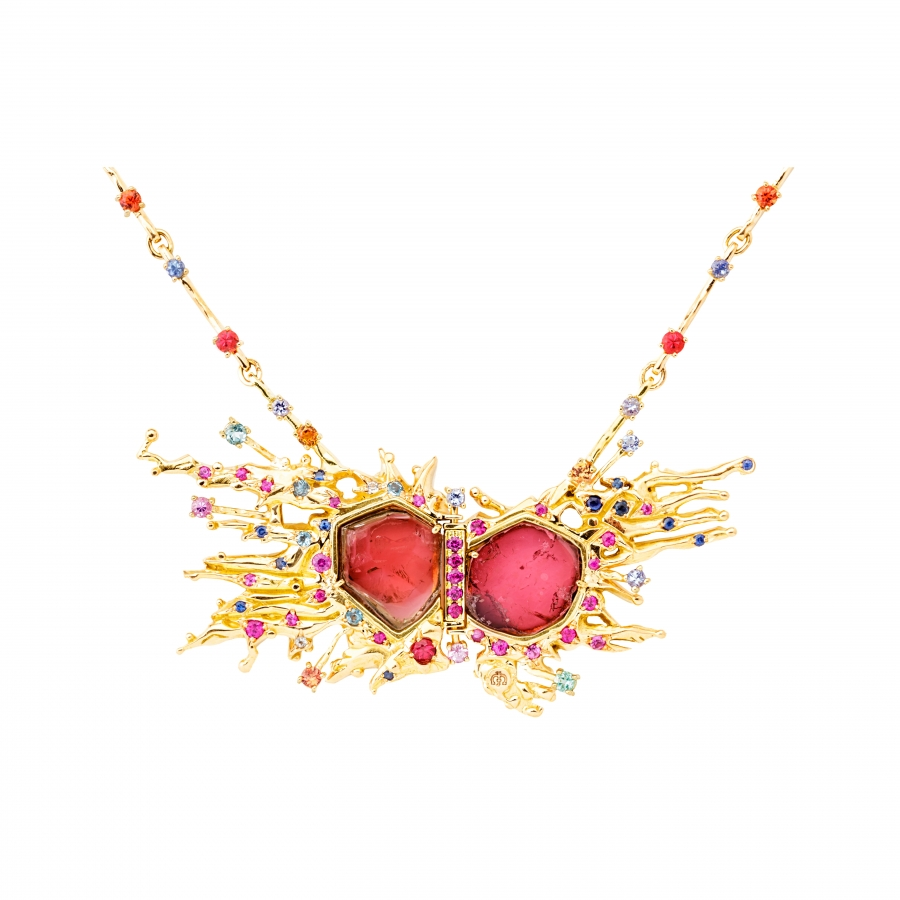 art happiness statement necklace en deco boutique style necklaces