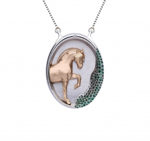 Jaime-Moreno-Art-in-Fine-Jewelry-Spanish-Luxury-Pendant-Pegaso-Los-Arcos-Pure-Spanish-Breed-Horse-b