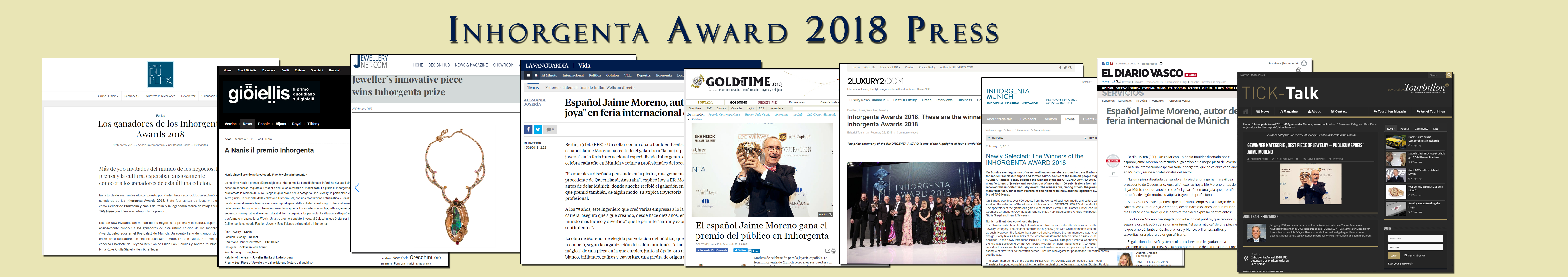 Jewelry Press Inhorgenta Award 2018 Jaime Moreno - Best Spanish Fine Jewelry Designer