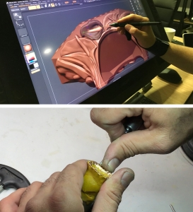Jaime Moreno Working on the Pink Tourmaline Flower
