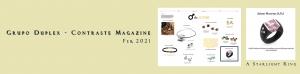 Grupo Duplex - Contraste Magazine Feb - Jaime Moreno - A Starlight Ring