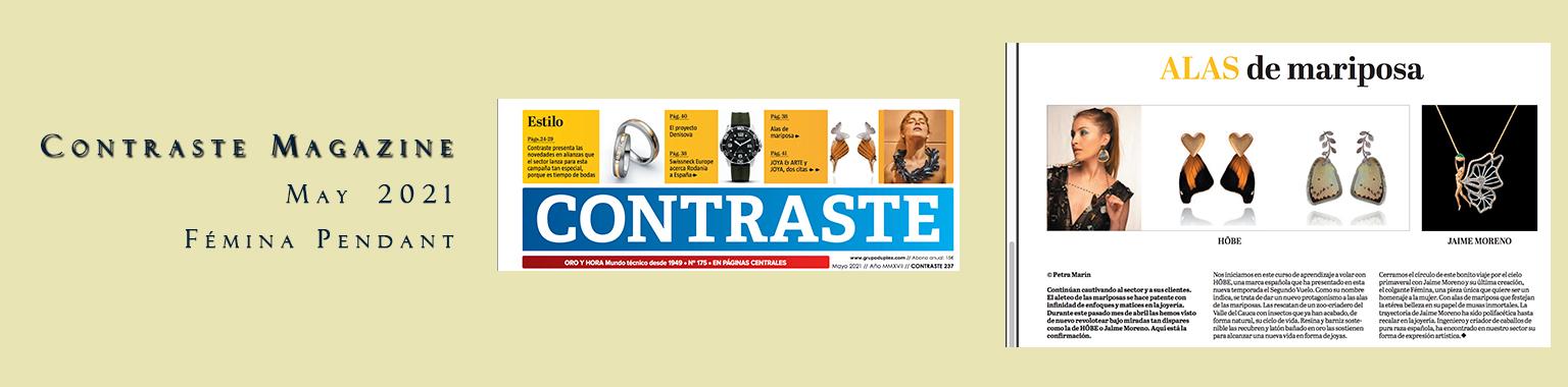 Contraste Magazine May 2021 Femina Pendant - Jaime Moreno